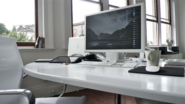 "My desk in the new studio"" width="